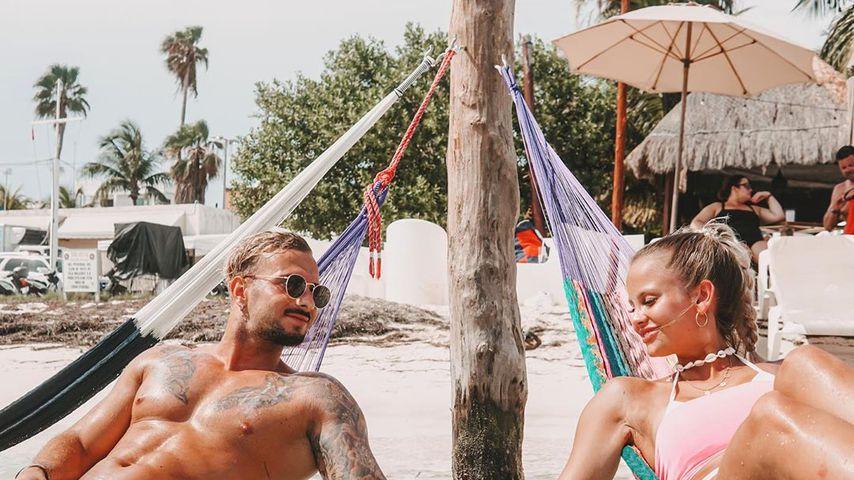 Julian Evangelos und Stephanie Schmitz im Juli 2019 in Mexico