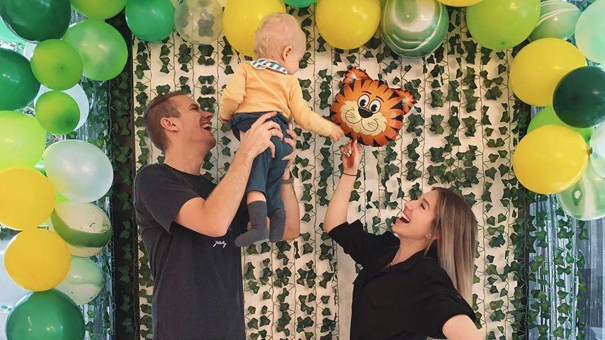 Julian und Bibi Claßen mit ihrem Sohn Lio