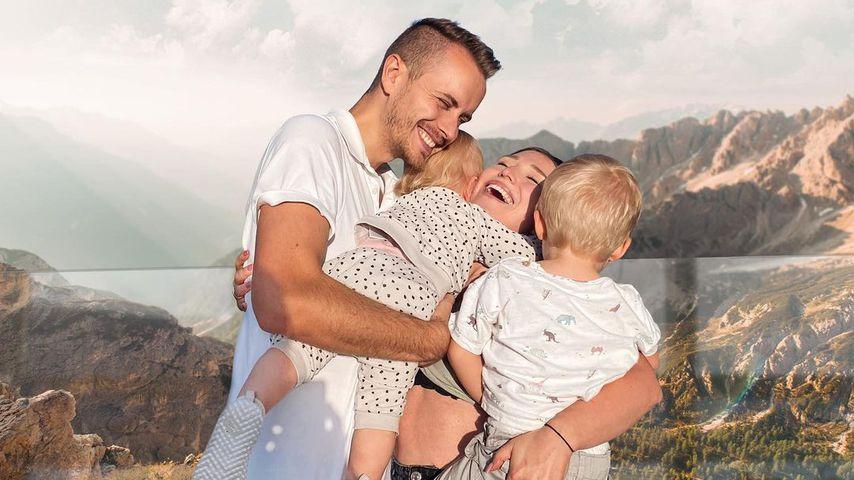 Julian und Bibi Claßen mit ihren Kindern Emily und Lio