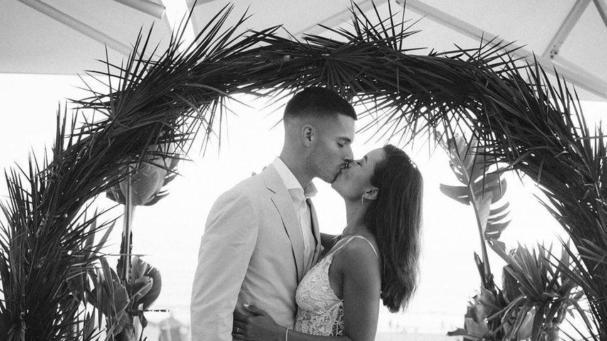 Julian Weigl und Sarah Richmond bei ihrer Hochzeit
