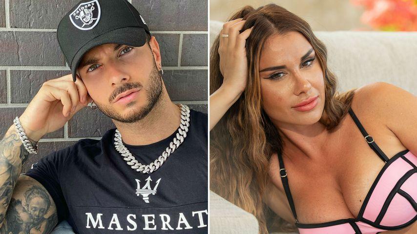 """Collage: Juliane Evangelos und Maria Bell, """"Temptation Island V.I.P.""""-Kandidaten"""