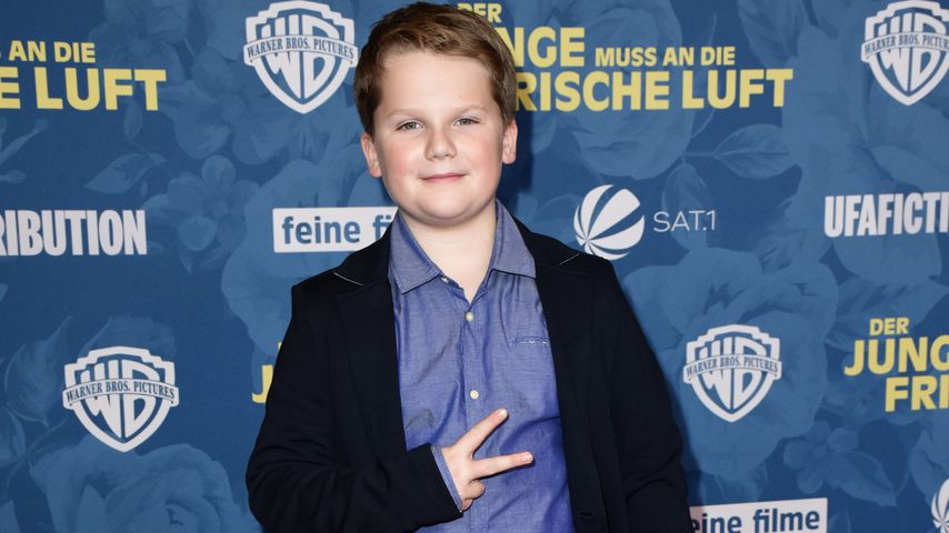 Beim Deutschen Filmpreis: Julius Weckauf (11) total geflasht