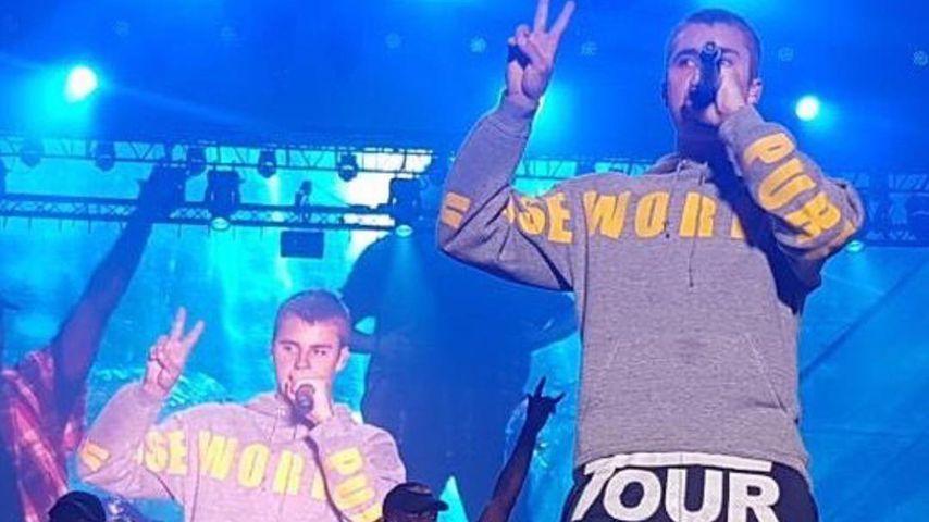 Justin Bieber bei einem Konzert
