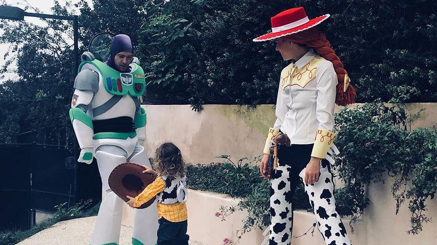 Justin Timberlake, Jessica Biel und Sohn Silas an Halloween 2017