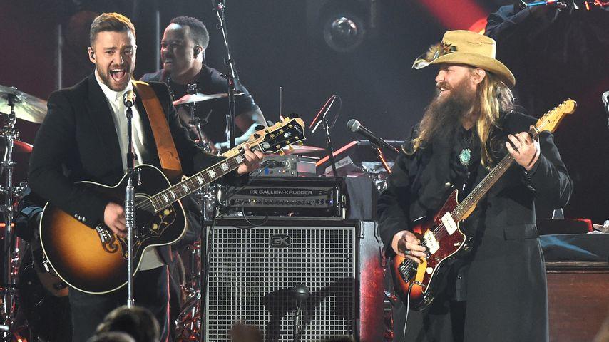 Mit Gitarre: Justin Timberlake rockt Country Music Awards