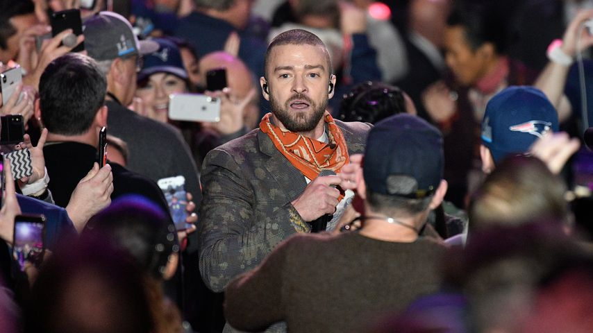 Justin Timberlake beim Super Bowl im U.S. Bank Stadion in Minneapolis