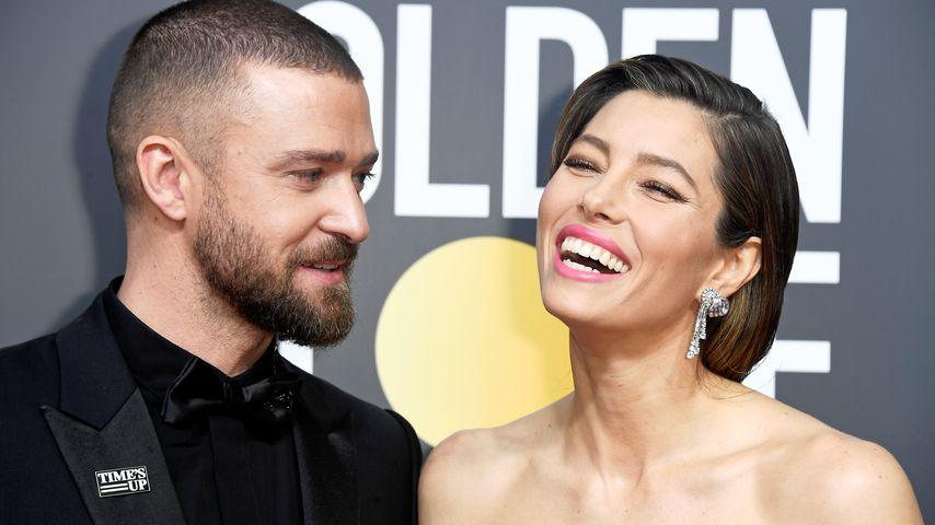 """Justin Timberlake und Jessica Biel bei den 75. """"Golden Globes""""-Awards"""