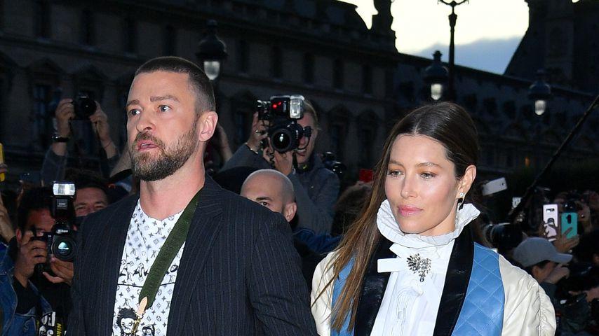 Justin Timberlake und Jessica Biel, Oktober 2019