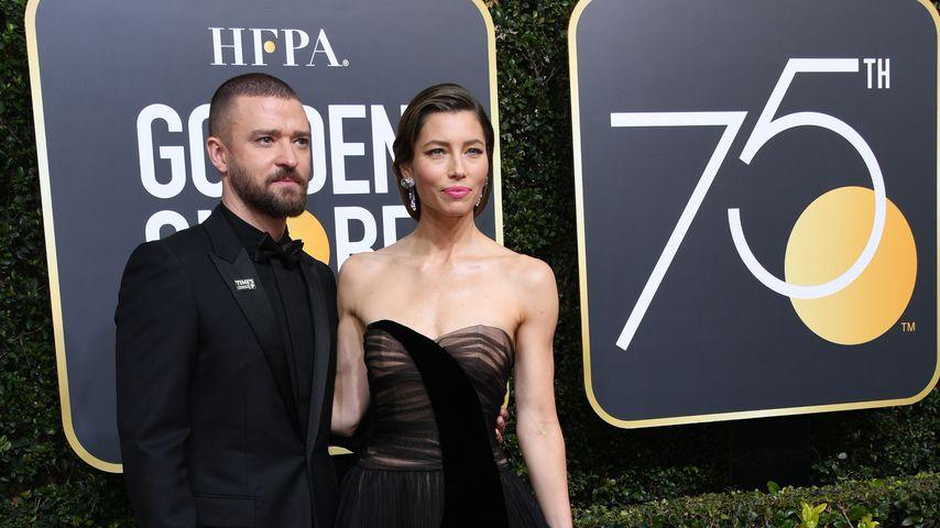 Justin Timberlake und Jessica Biel bei den Golden Globes 2018