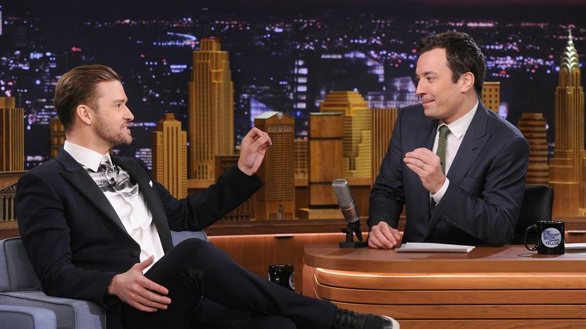 "Justin Timberlake und Jimmy Fallon in der ""Tonight Show"" 2014"