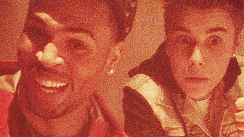 Lustige Fratzen-Show bei Justin Bieber & Chris