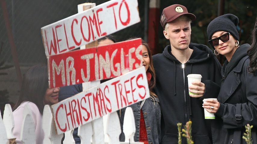 Grinch-Mimik: Justin Bieber mies gelaunt beim Tannenbaumkauf