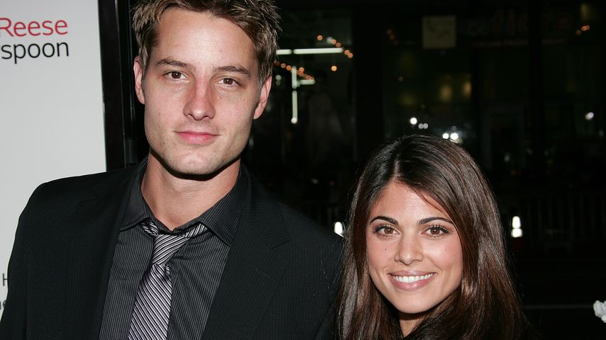 "Justin und Lindsay Hartley bei der ""Four Christmases""-Premiere 2008"