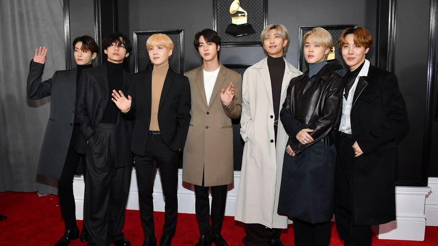 Die K-Pop-Band BTS im Januar 2020