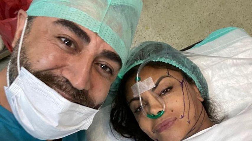 Kader Loth (rechts) während ihrer Beauty-OP