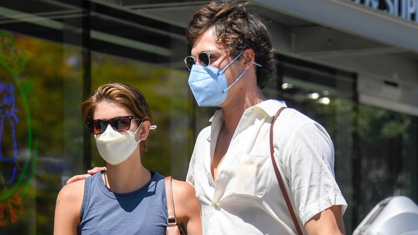 Kaia Gerber und Jacob Elordi in Los Feliz im April 2021