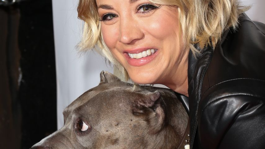 Kaley Cuoco mit ihrem Hund Angel