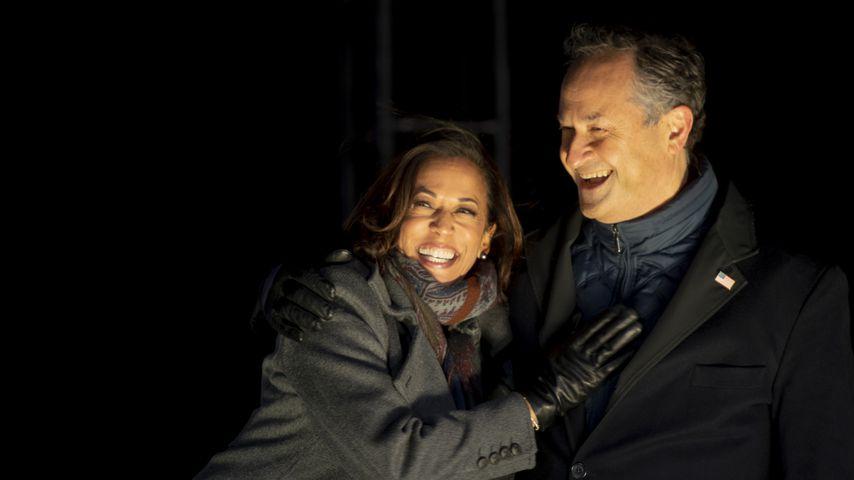 Kamala Harris mit ihrem Mann Douglas Emhoff