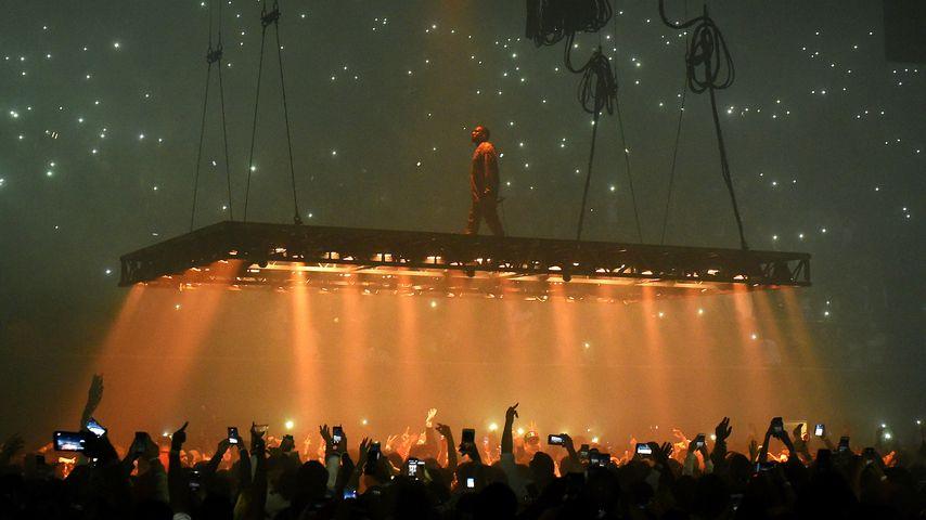Kanye West bei einem Auftritt in Kalifornien