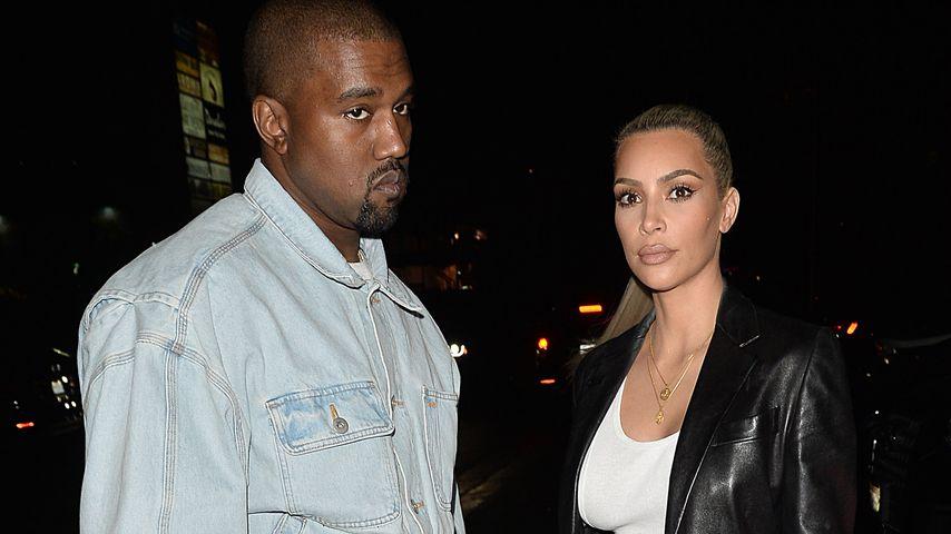 Kanye West und Kim Kardashian auf dem Weg zu Kims Geburtstagsfeier