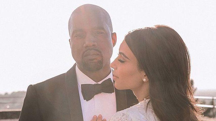 Kanye West und Kim Kardashian bei ihrer Hochzeit