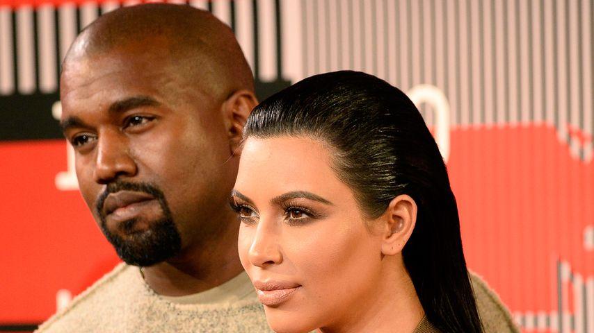 Kanye West und Kim Kardashian im Jahr 2015