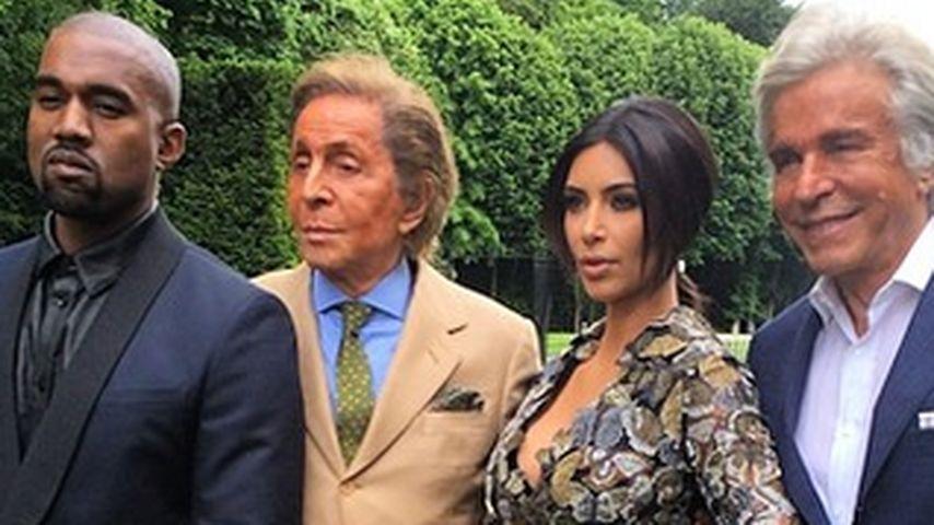 Edler Hochzeitsbrunch: Valentino lud Kimye ein