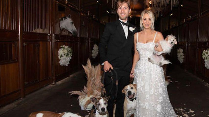 Karl Cook und Kaley Cuoco an ihrem Hochzeitstag