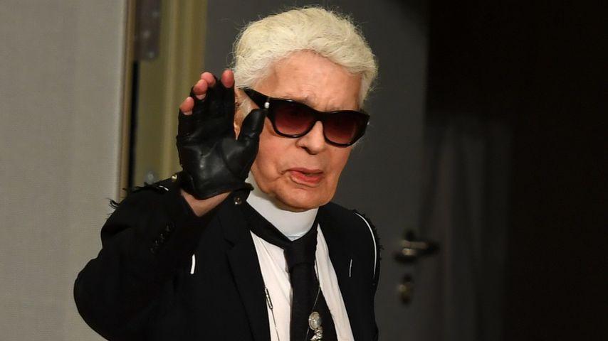 Karl Lagerfeld im Dezember 2017