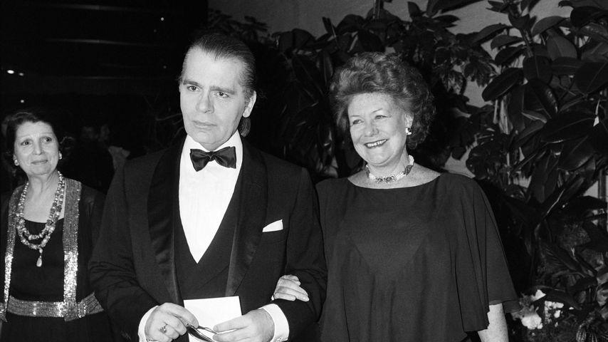 Karl Lagerfeld beim Rosenball 1985