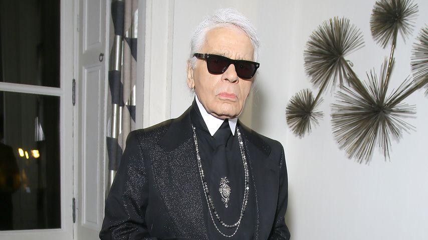 Absolute Seltenheit! Karl Lagerfeld ohne Sonnenbrille