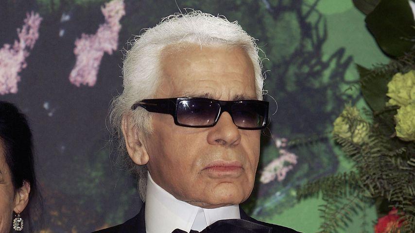 Karl Lagerfeld im März 2005