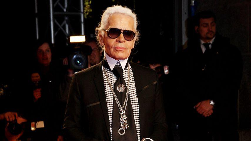 Karl Lagerfeld auf der Fashion Week in Milan im März 2009
