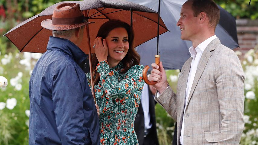 Herzogin Kate und Prinz William im Sunken Garden in London