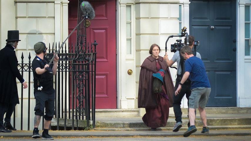 "Kate Winslet am Set des Films ""Ammonite"""