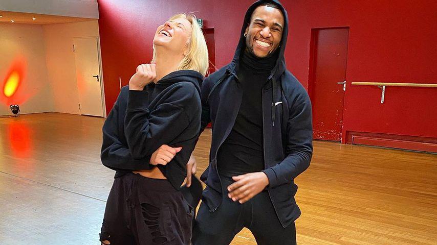 Kathrin Menzinger und Tijan Njie im Februar 2020