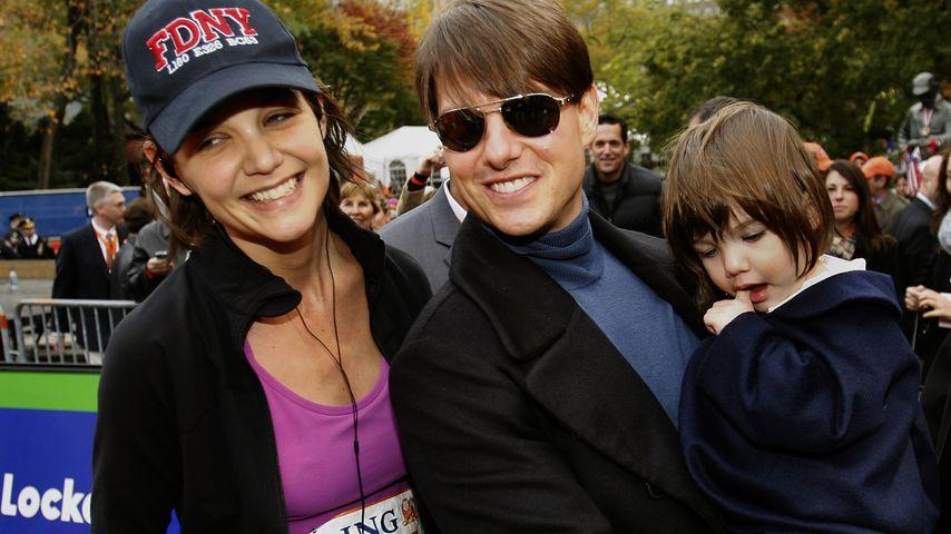 Katie Holmes, Tom Cruise und Tochter Suri beim New York Marathon 2007