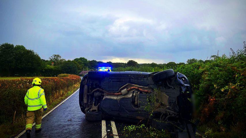Katie Price' Auto nach dem Unfall