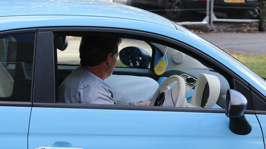 Katie Price im Auto ihres Vaters, September 2021