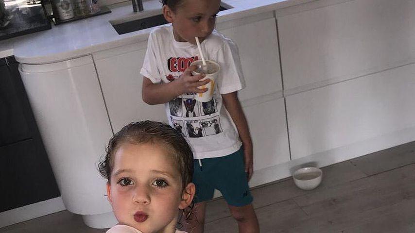 Katie Price' Kinder Jett Riviera und Bunny Hayler im Juni 2019
