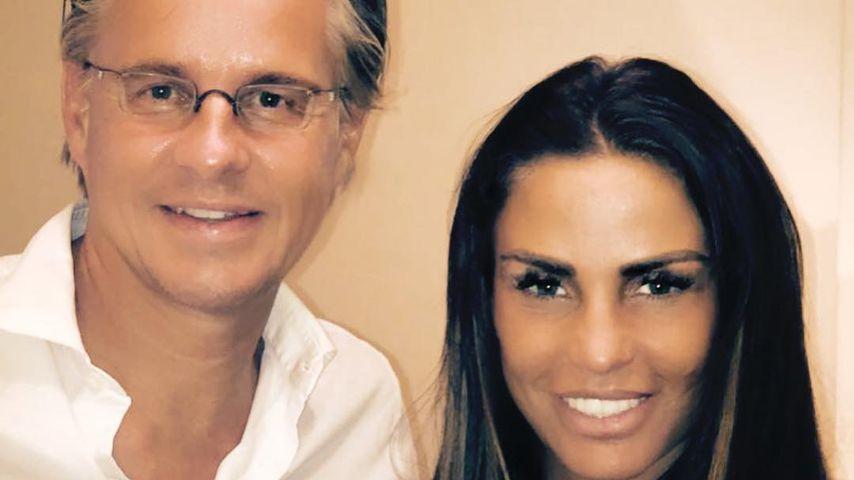 Katie Price und ihr Schönheitschirurg Dr. Plovier (links)