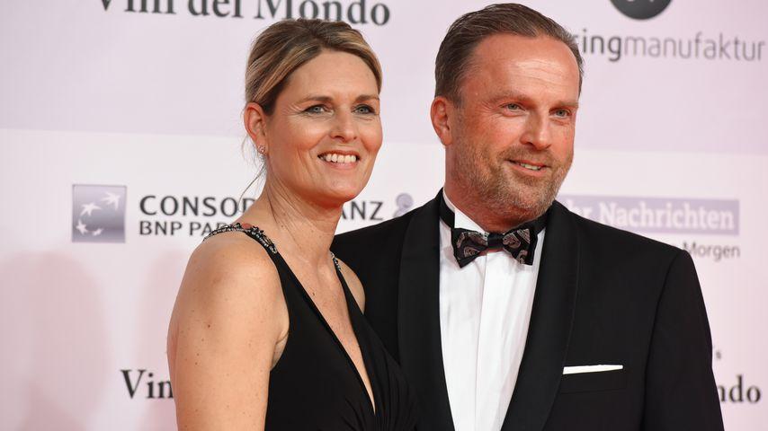 Katrin Krabbe und Karsten Fluhr bei der 14. Kinderlachen-Gala in Dortmund, 2018