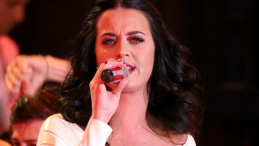 Wahlkampfhilfe: Katy Perry im Statement-Kleid
