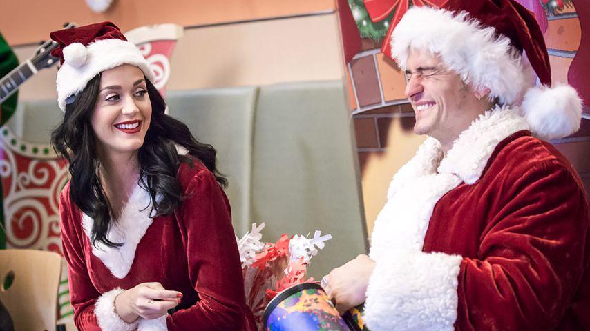 Lustig! Katy Perry & Orlando Bloom liefern sich Sahne-Duell