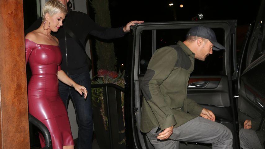 Im Latex-Kleid: Katy Perry feiert B-Day mit Orlando Bloom!