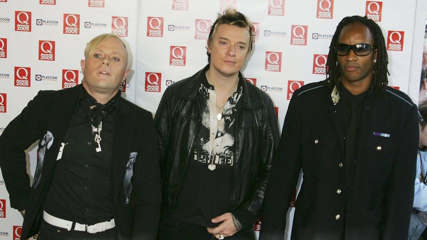 Keith Flint, Liam Howlett und Maxim Reality von der Band The Prodigy in London, 2005