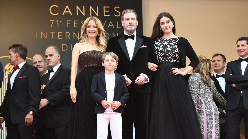 Kelly Preston, John Travolta und ihre Kinder Ella und Benjamin beim Film Festival in Cannes 2018