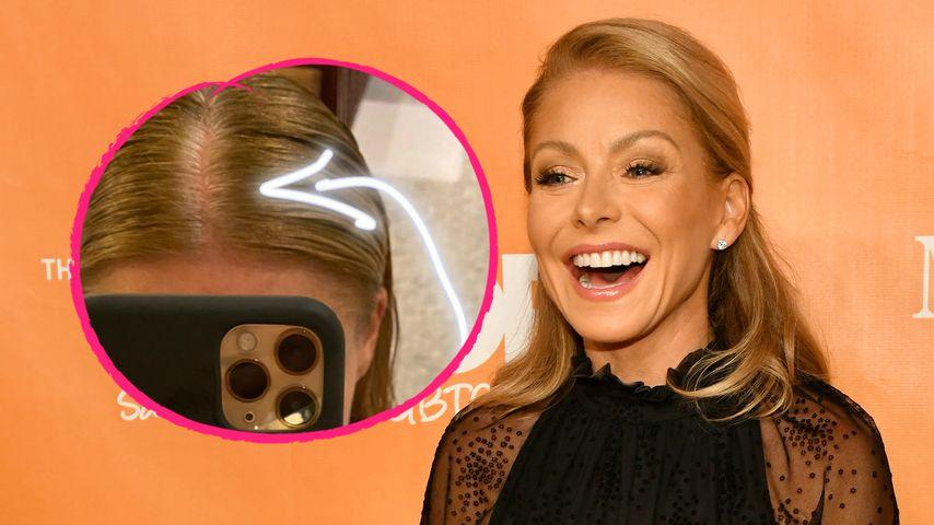 Witzige Aktion: Kelly Ripa zeigt ihren grauen Haaransatz!