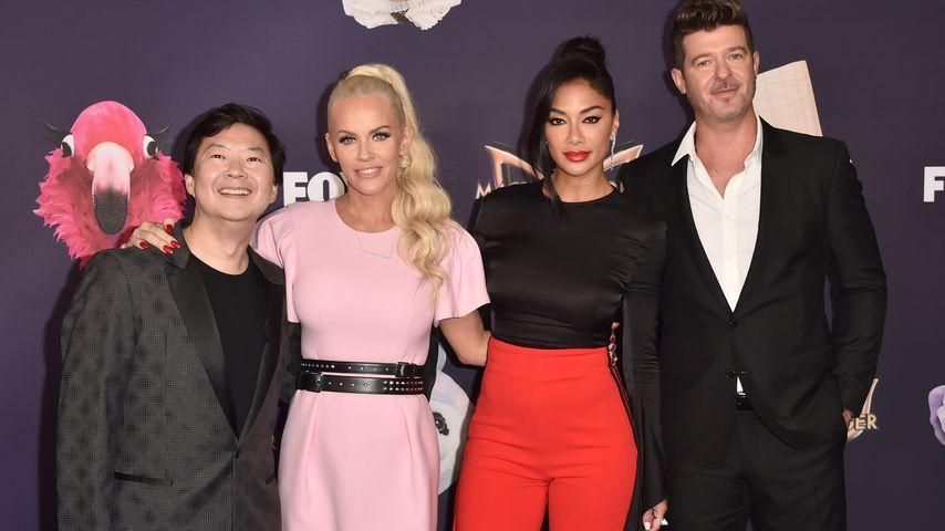 """Ken Jeong, Jenny McCarthy, Nicole Scherzinger und Robin Thicke, Jury von """"The Masked Singer"""""""