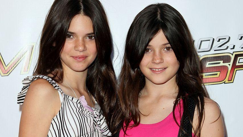 Kendall Jenner und ihre Schwester Kylie im Jahr 2008